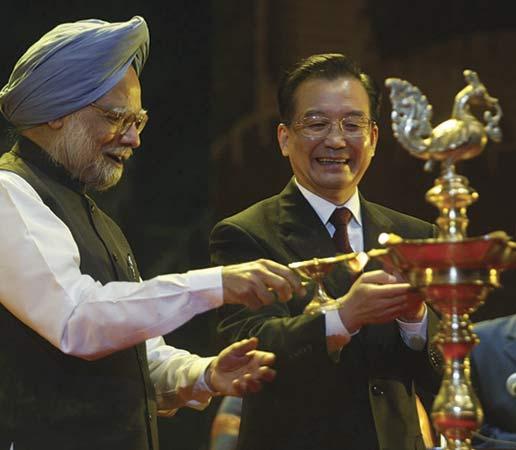Manmohan Singh & Wen Jiabao